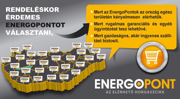Vásárlás az EnergoPlázán, áruátvétel azl EnergoPontokban!