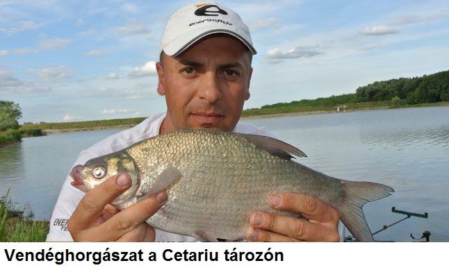Vendéghorgászat a Cetariu tározón